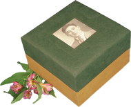 Embrace Earthurn Biodegradable Urn - Green with Photo Frame