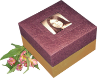 Embrace Earthurn Biodegradable Urn - Purple with Photo Frame