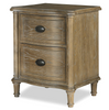 Devon French Oak 2 Drawer Nightstand