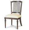French Oak Ladder Back Upholstered Cafe Dining Chair