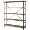 French Industrial wooden bakers rack hutch