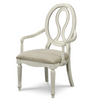 Country-Chic Maple Wood White Pierced Back Arm Chair