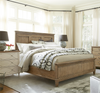 French Modern Hickory Wood King Panel Headboard Beds Frame