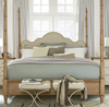 French Modern Tufted Linen Bed End Bench