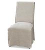 French Modern Slipcovered Long Skirt Dining Side Chair