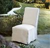 French Modern Slipcovered Long Skirt Dining Chair