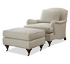 Churchill English Rolled Arm Linen Upholstered Ottomans