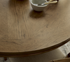 French Modern White Wood Pedestal Round Dining Table Top