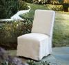 Slipcovered Long Skirt Dining Chair