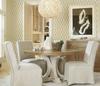 French Modern 5 Piece White Kitchen Table Set