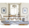 French Modern White 9 Piece Extension Dining Room Table Sets