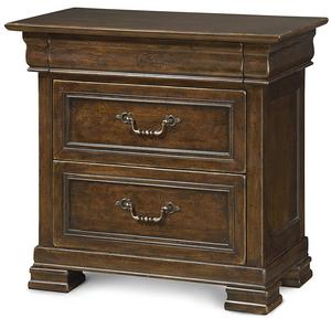 Sonoma Vintage Brown 3 Drawer Nightstand