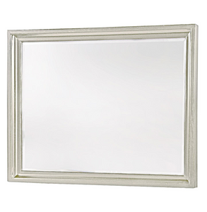 Country-Chic Maple Wood Dresser Mirror - White