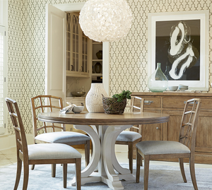French Modern 5 Piece Round Dining Room Set