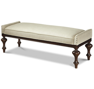 Proximity Upholstered Bed End Bench with Nailheads