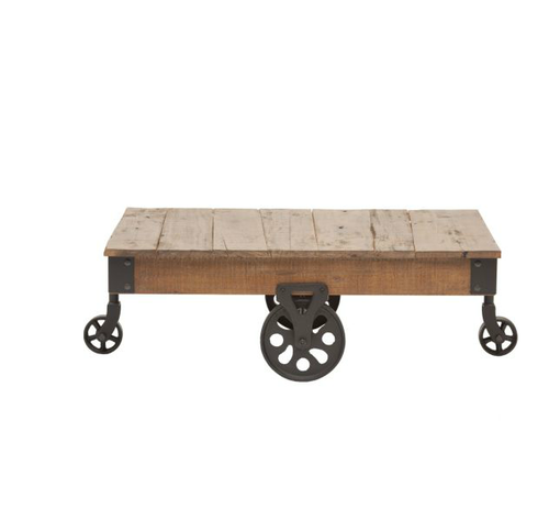 1900u0027s factory cart cocktail table