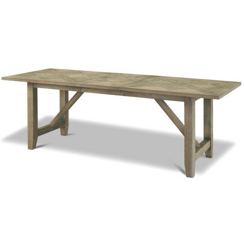 French Oak Extendable Farmhouse Kitchen Table- Weathered