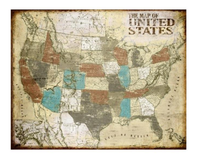 Vintage U.S Map