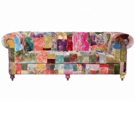 Bensington 2 5 Seater Vintage Velvet Patchwork Sofa