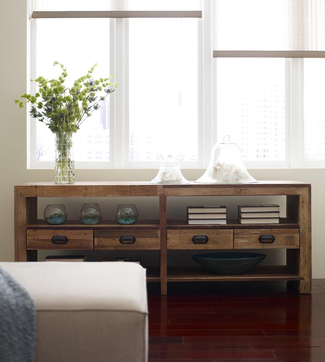 Angora Reclaimed Wood Rustic TV Media Console ... - Angora Reclaimed Wood Rustic Media Console With Drawers Zin Home
