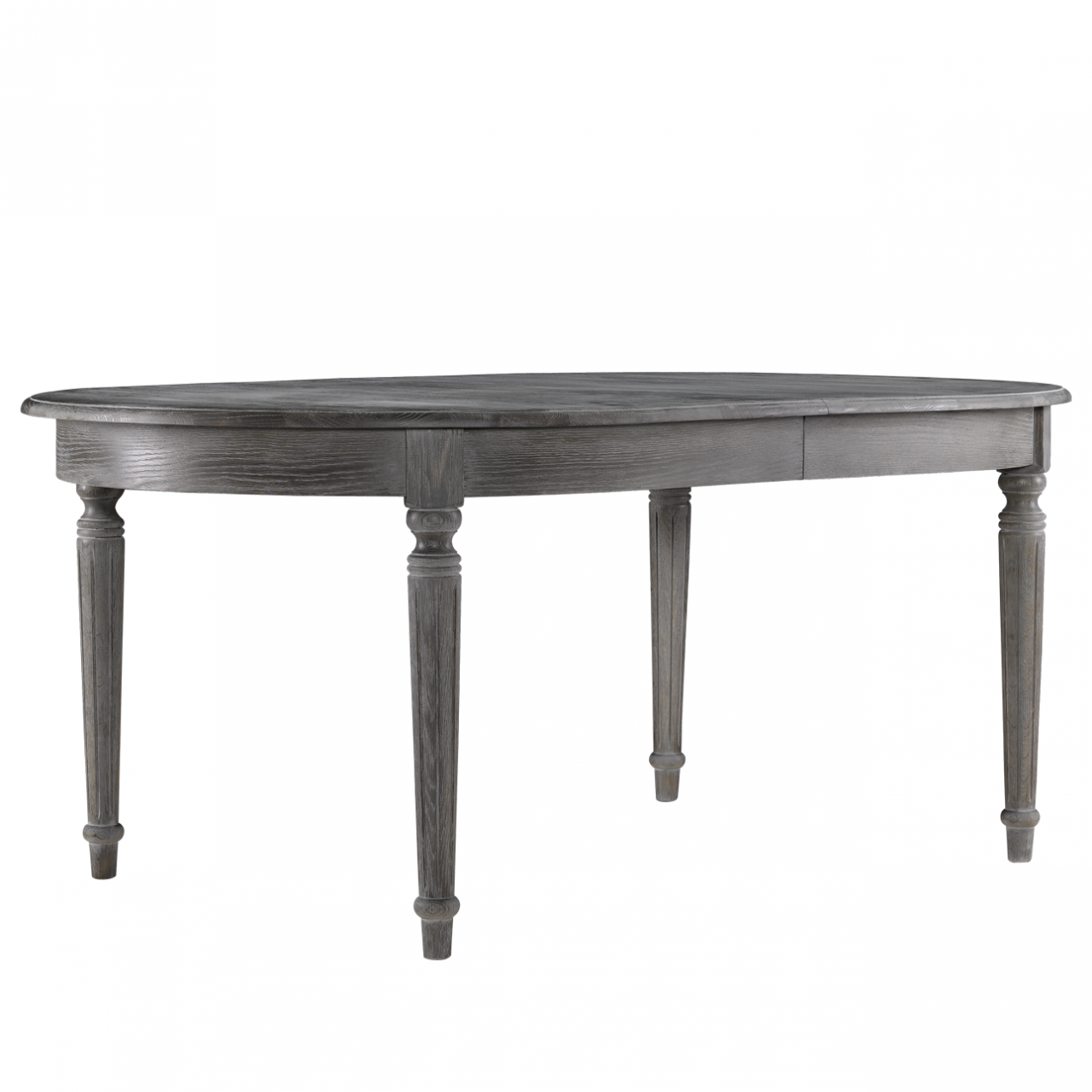 French Oak Gray Round Extendable Dining Table 48 Quot Zin Home