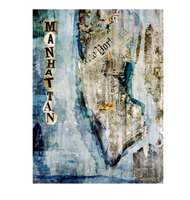 Newspaper Manhattan Map