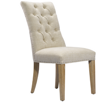 Luxe Linen Upholstered Tufted Side Chair
