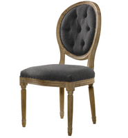 Louis Side Chair- Tufted Wool