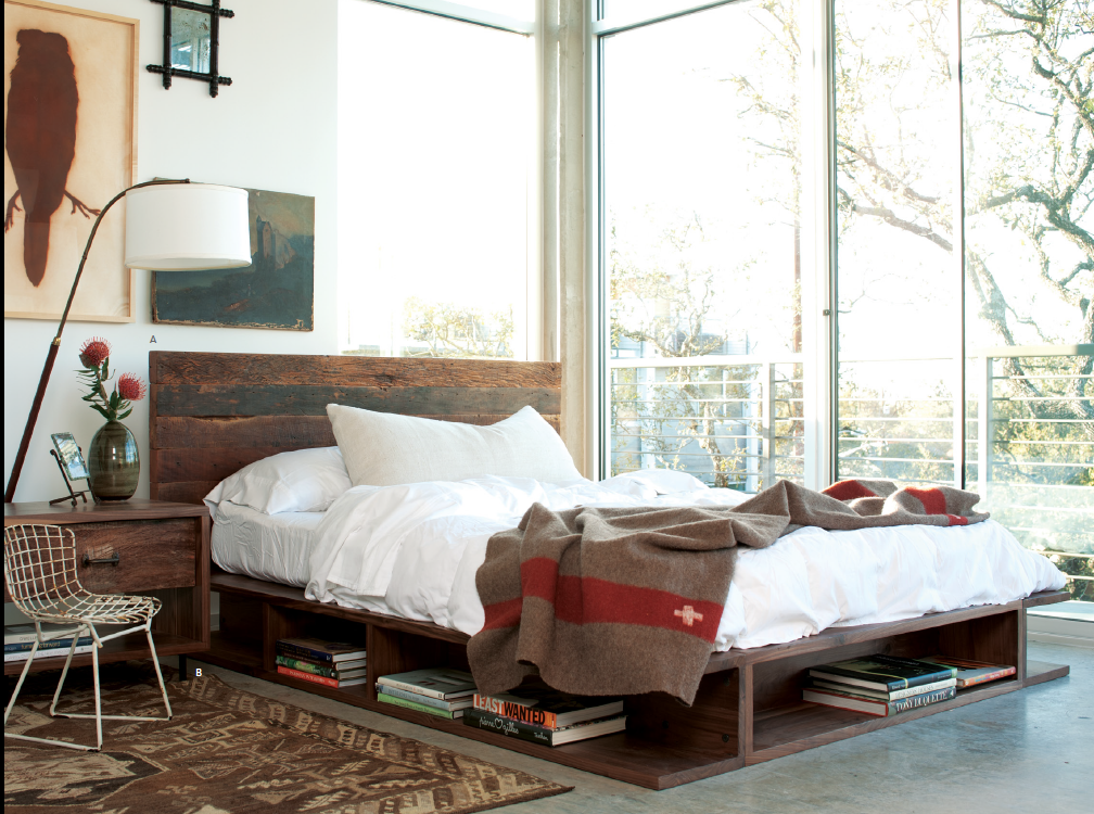 ... Bina Bonnie King Bed- Rustic Reclaimed Wood Platform Bed Frame ... - Bonnie Rustic Reclaimed Wood Queen Platfrom Bed Zin Home
