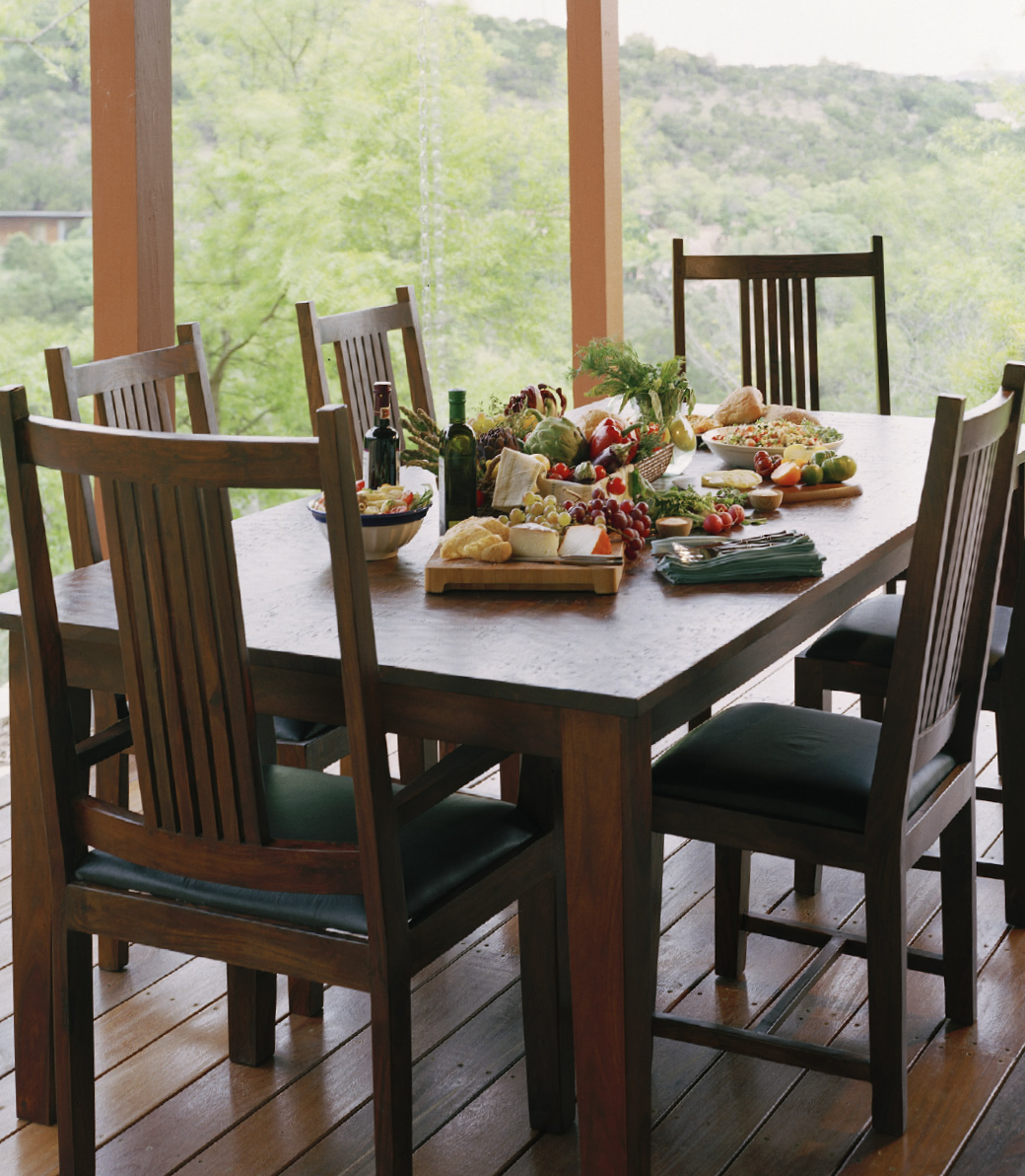Provence Dining Table 90 Quot Solid Hardwood Top Rustic
