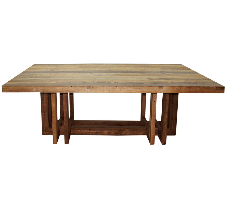Modern rustic wood dining table - Angora Dining Table 95 Quot Modern Reclaimed Wood Tables Zin Home