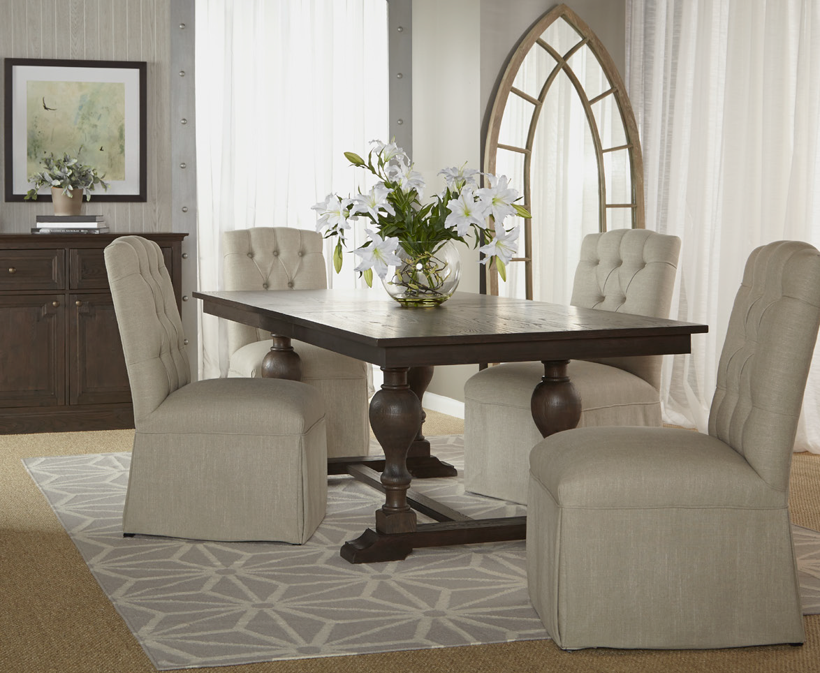 Astor Double Trestle Extension Dining Table 96 Quot Zin Home