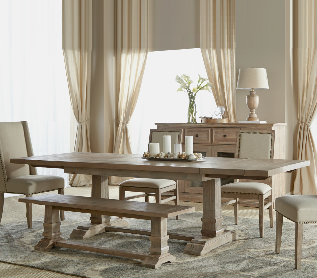 """Hudson 110"""" Extension Dining Table 
