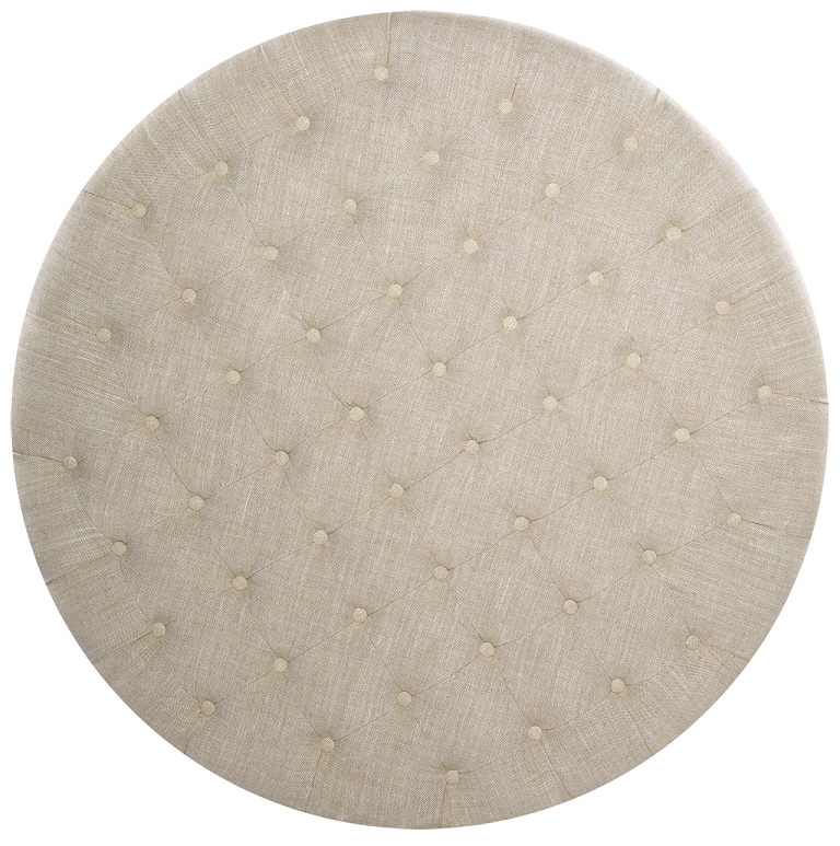 Nora Grand Linen Upholstered Round Tufted Ottoman 45