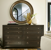 Hollywood Hills California Rustic Oak 8 Drawer Dresser