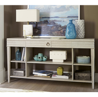 California Rustic White Oak 1 Drawer Console Table