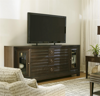 California Rustic Oak TV Entertainment Console