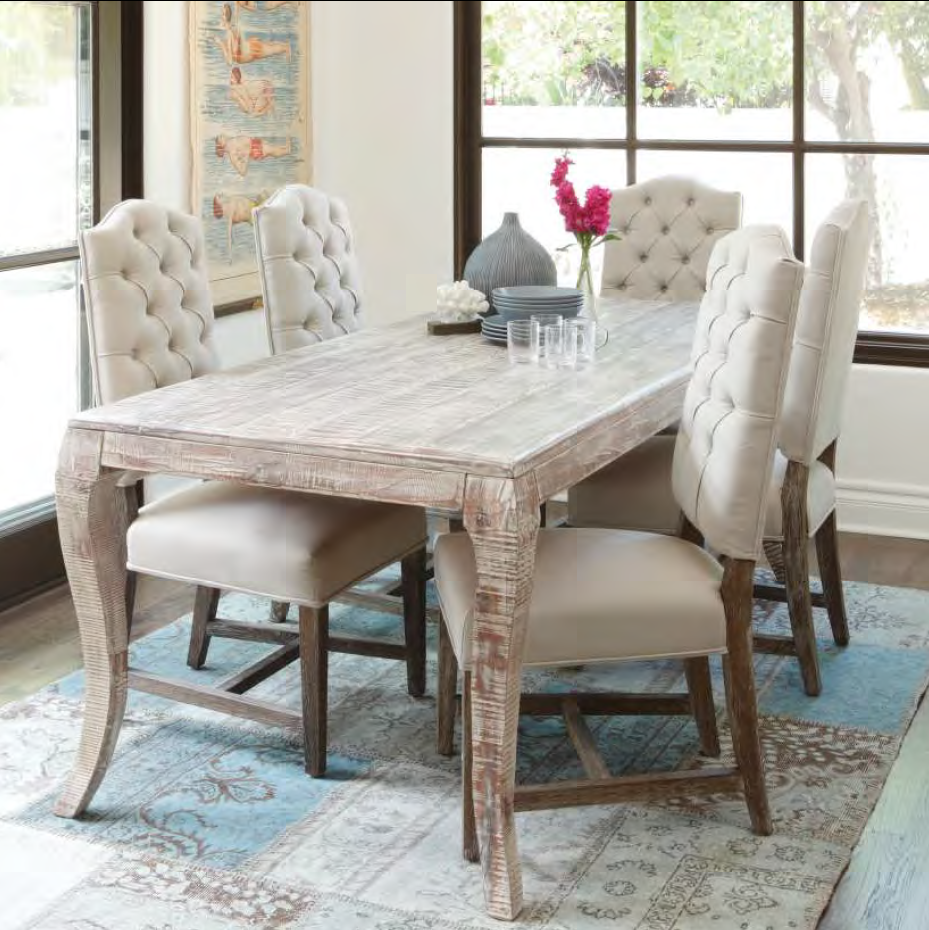 Aria 72 dining table solid reclaimed wood dining room for Dining room table 72