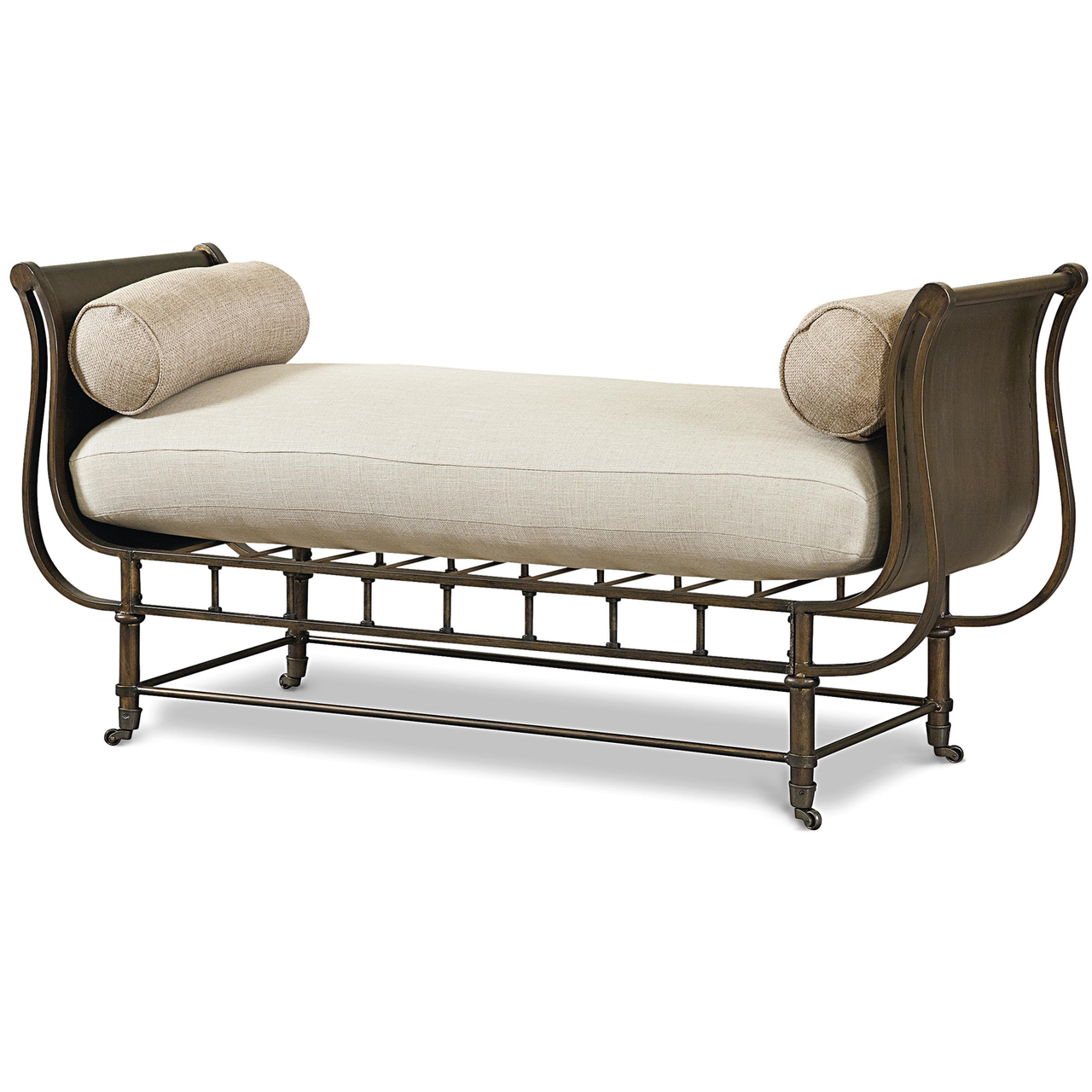 Metal Bedroom Bench Sonoma Metal Frame Bed End Bench On Casters Zin Home