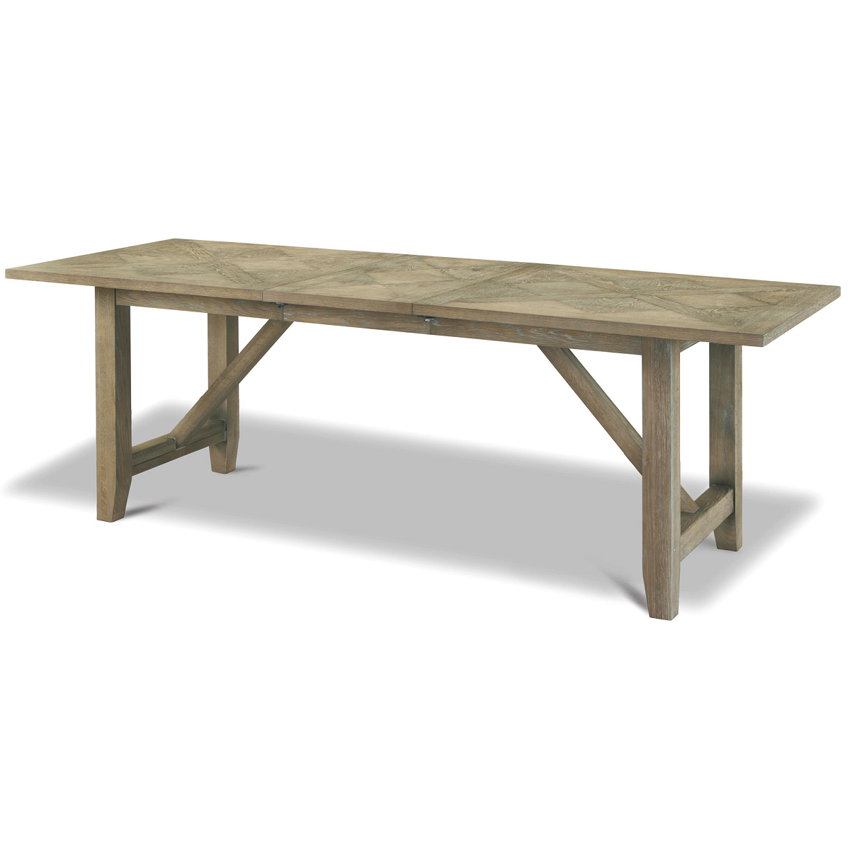 French Oak Extendable Farmhouse Kitchen Table Zin Home
