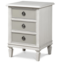 Allison Beach Cottage White 3 Drawer Nightstand
