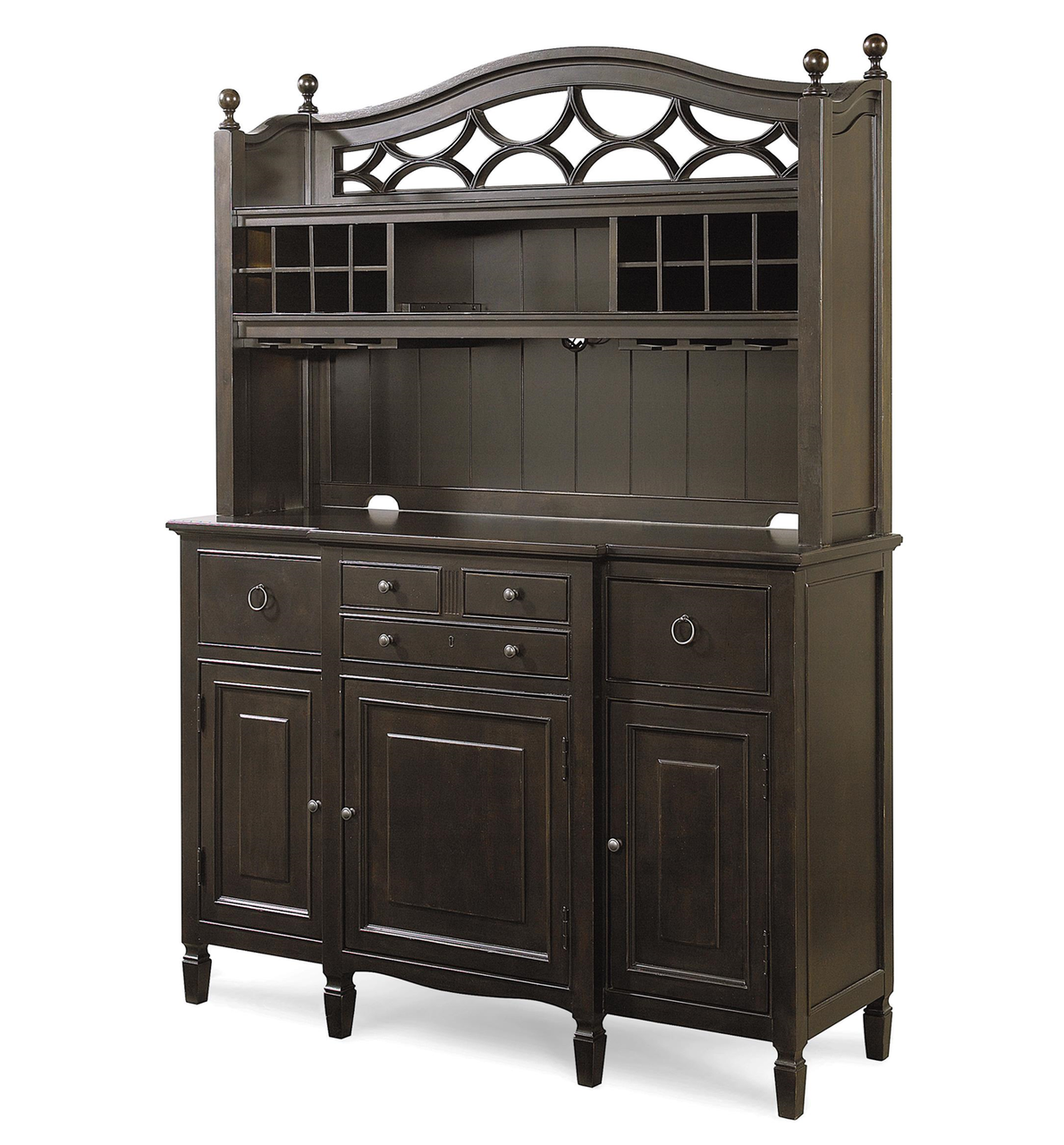 Country Chic Maple Wood Black Kitchen Buffet with Bar Hutch1  86220.1453783064.1280.1280