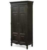 Country-Chic Maple Wood Edgewood Armoire, Black
