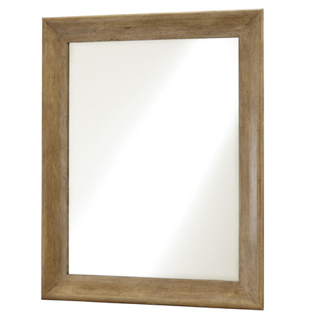 French Modern Light Wood Bedroom Mirror