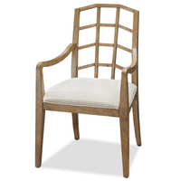French Modern Slip Upholstered Dining Arm Chair