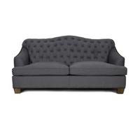 Bardot Tufted Sofa with Nailheads - Charcoal