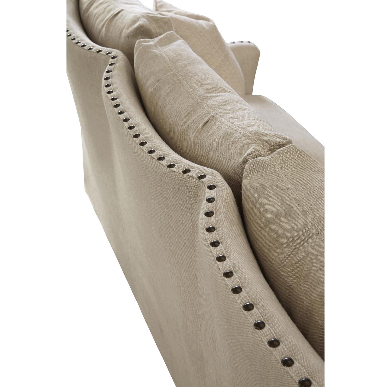 Connor Belgian Linen Upholstered Slope Arm Sofa Zin Home