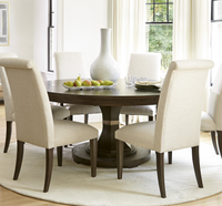 California Rustic Oak 7 Piece Round Dining Room Sets