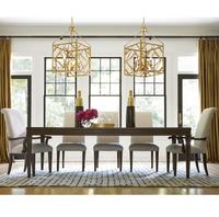 California Rustic Oak Extending 9 Piece Dining Room Set