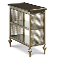 Proximity Industrial Bronze Metal Side Table